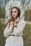 Portrait of  brunette girl with beautiful eyes Royalty Free Stock Photography