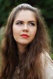 Portrait of a brunette girl Stock Photos
