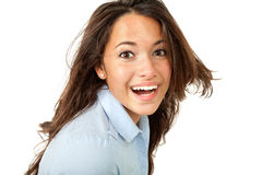 Portrait of brunette girl Stock Photo