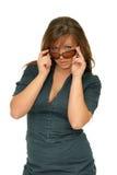 Portrait brunette glasses Royalty Free Stock Images