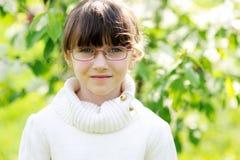 Portrait of brunette kid girl Royalty Free Stock Photos