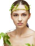 Portrait of brunette spa woman Stock Image