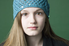Portrait of a brunette teen girl Royalty Free Stock Images