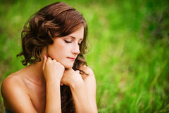 Portrait of brunette woman Royalty Free Stock Image