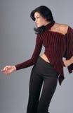 Portrait of brunette woman Stock Images