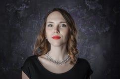 Portrait of a brunette woman Royalty Free Stock Photos
