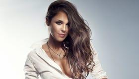 Portrait of brunette woman Royalty Free Stock Photo