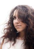 Portrait of a brunette woman. Stock Images