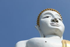 Portrait of a Buddha statue. Royalty Free Stock Photo