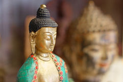 Portrait of Buddha statues Stock Images