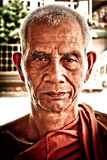 Portrait of a Buddhist monk of Ayutthaya, Thailand Stock Photography