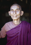 Portrait of a Buddhist Monk, Burma Royalty Free Stock Photos