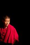 Portrait of a Buddhist monk of The Palkhor Monastery Gyantse Tib Royalty Free Stock Photo