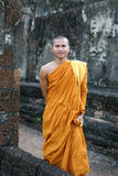 Portrait of  buddhist monk Stock Photos