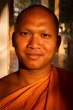 A portrait of a Buddhist monk of Wat Damnak, Siem Reap, Cambodia Stock Image