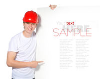 Portrait of a builder Stock Photography
