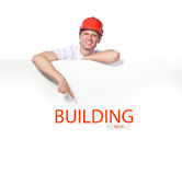 Portrait of a builder Stock Images