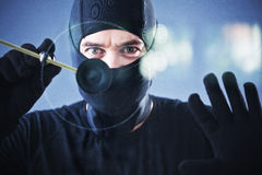 Portrait of burglar Royalty Free Stock Photos