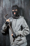 Portrait of a burglar Stock Images