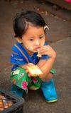 Portrait of Burmese little girl Stock Photo