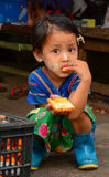 Portrait of Burmese little girl Royalty Free Stock Photography