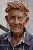 Portrait of Burmese old man Stock Image