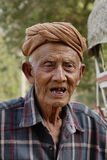Portrait of Burmese old man Royalty Free Stock Photos