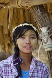 Portrait of Burmese woman Stock Image