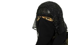 Portrait with burqa Royalty Free Stock Image