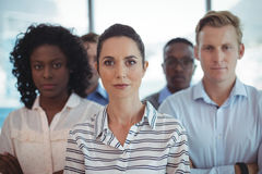 Portrait of business colleagues standing together Stock Photos