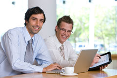 Portrait of business colleagues working Stock Image