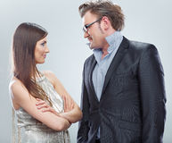 Portrait of business couple. Royalty Free Stock Photos