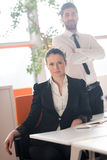 Portrait of business couple at office Royalty Free Stock Images
