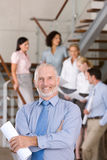 Portrait of business executives royalty free stock photography