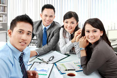 Portrait of business group Stock Photos