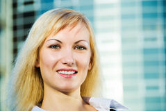 Portrait of business lady Stock Images