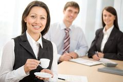 Portrait of a business lady Royalty Free Stock Images