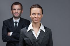 Portrait of business male and female colleagues Stock Images