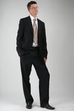 Portrait of business man. In a black suit Royalty Free Stock Photography