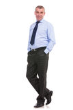 Portrait of a business man with hands in pockets Royalty Free Stock Image
