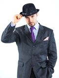 Portrait of a business man with hat Royalty Free Stock Photography