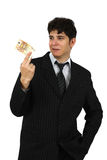 Portrait of a business man holding money Stock Image