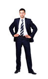 Portrait of a business man isolated Royalty Free Stock Image