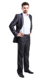 Portrait of a business man isolated on white Royalty Free Stock Images