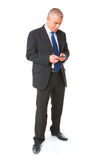 Portrait of business man with mobile phone Royalty Free Stock Image