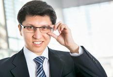 Portrait of a business man. In an office Royalty Free Stock Photography