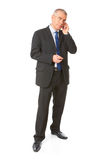 Portrait of business man on the phone Royalty Free Stock Photo