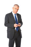 Portrait of business man with phone Stock Images