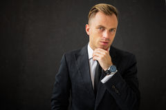 Portrait of business man Stock Images