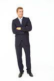 Portrait of business man in suit Royalty Free Stock Image